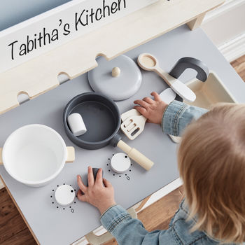 Personalised Wooden Toy Kitchen Set