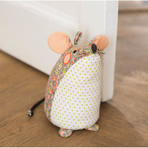 Mouse Doorstop - living room