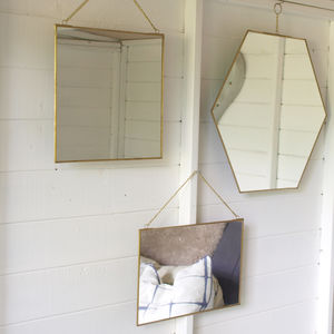 Brass Mirror Assorted Shapes - mirrors
