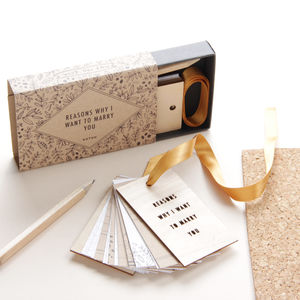 'Reasons Why I Want To Marry You' Tiny Tag Book - engagement cards