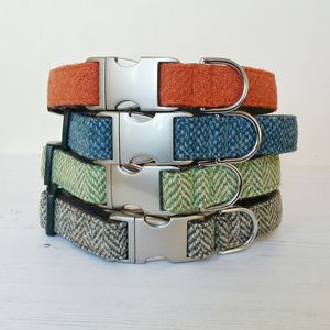 Harris Tweed Dog Collar - gifts for pets