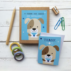 Children's Mini Thank You Cards Dog