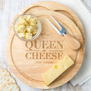 Personalised Queen of Cheese board for Women