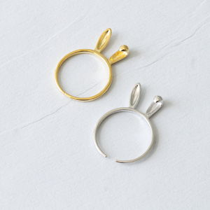 Sterling Silver Bunny Ears Ring - rings