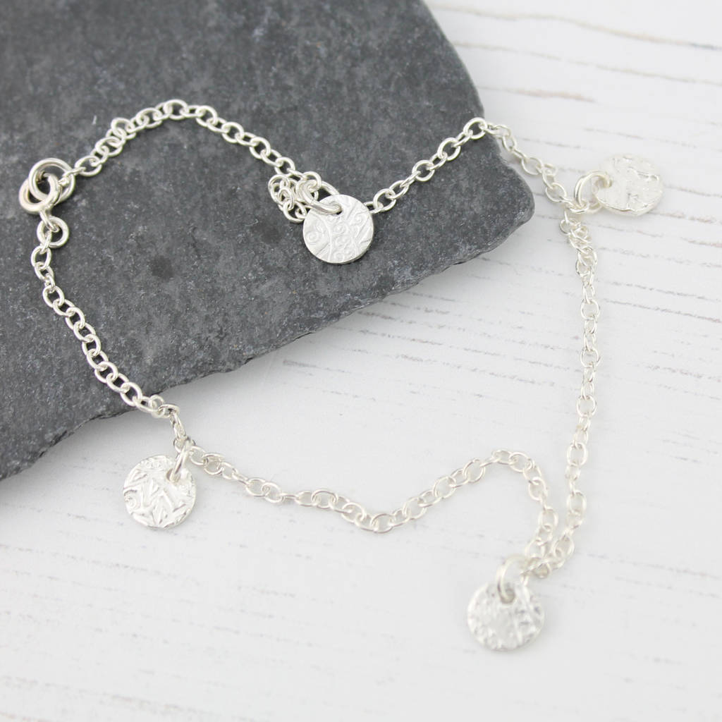 in round faceted lovely up anklet charm bracelet bar available enamel lengths collections silver wholesale sterling anklets close w ankle products daisy with and chain jewelry beads adornment rolo photo