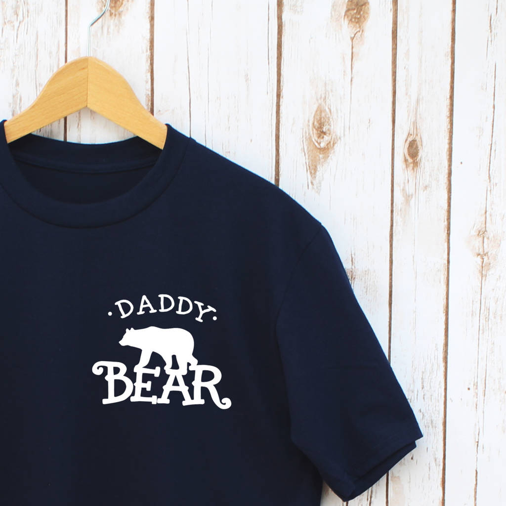 ce80b410 father's day daddy bear and baby matching t shirt set by betty ...