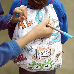 Doodle Backpack With Wash Out Pens - bags, purses & wallets
