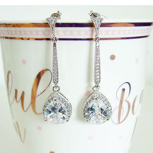 Vintage Style Cubic Zirconia Earring - earrings