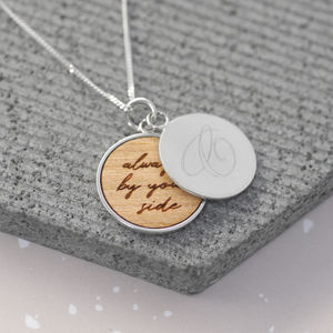 Personalised Secret Message Disc Necklace - new in jewellery