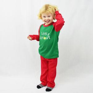 'Little Sprout' Children's Christmas Pyjamas