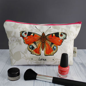 Personalised Butterfly Wash Make Up Case Travel Bag - make-up & wash bags