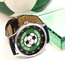 Personalised Watch With Green Football Design