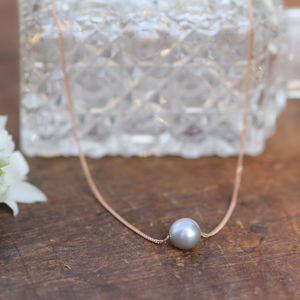Floating Pearl Rose Gold Necklace - necklaces & pendants