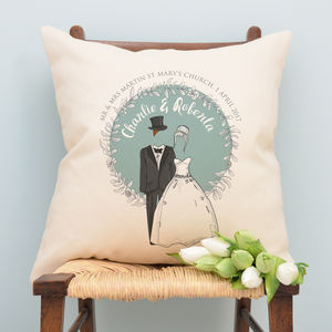 Personalised Wedding Couple Cushion - decorative accessories