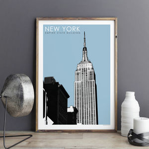 New York Print Empire State Building