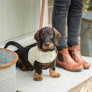 Bone Linen Dog Harnesses