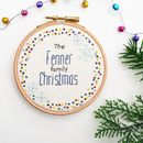 Personalised Family Christmas Embroidery Hoop Art