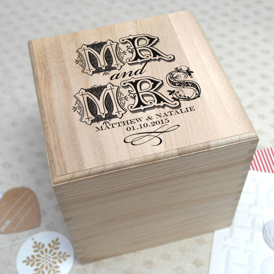 personalised wedding memory box by letterfest | notonthehighstreet.com
