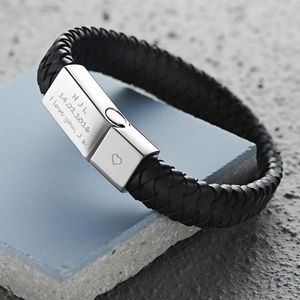 Men's Engraved Message Bracelet - gifts for him