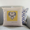 Personalised Penguin Love Cushion