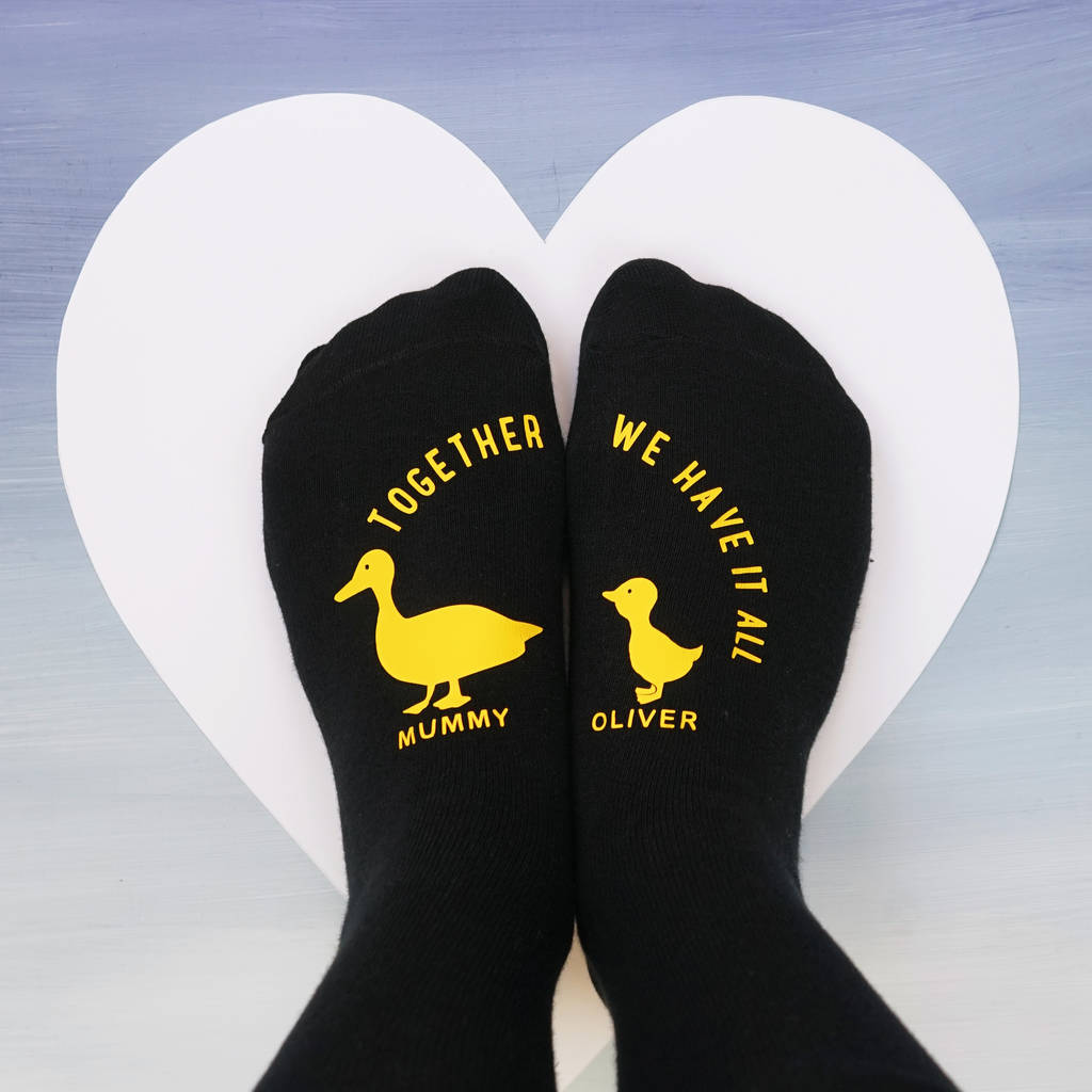 Personalised Ducks In A Row Socks