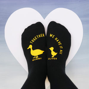Personalised Ducks In A Row Socks - socks