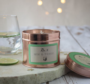 Gin And Tonic Scented Candle Gift For Her - christmas sale