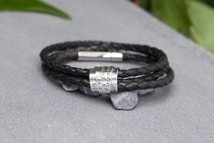 Personalised Secret Scroll Tri Wrap Bracelet