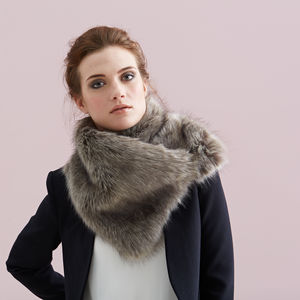 Luxuriously Soft Faux Fur Asymmetric Scarf