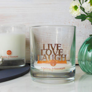 'Live Love Laugh' Hidden Message Scented Candle