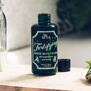 Fortifying Green Bath Potion Oil - bathroom
