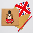Handmade London Beefeater Bulldog Card