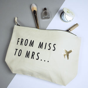 'From Miss To Mrs' Make Up Bag