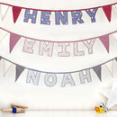 Personalised Handmade Name Bunting
