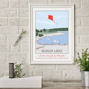 Ruislip Lido, Hillingdon Print - new in prints & art