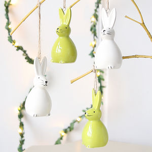 Ceramic Hanging Bunny Decoration - home accessories
