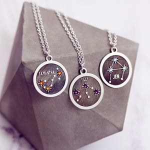 Zodiac Constellation Necklace In Sterling Silver - necklaces & pendants