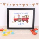 Children's Mr. Piggy's Tractor Name Print