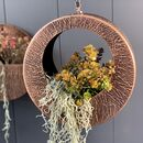 Round Copper Hanging Planter One Left