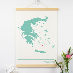 Paper Anniversary Map Print - for him