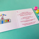 Personalised Christening Invites showing the inside of the design