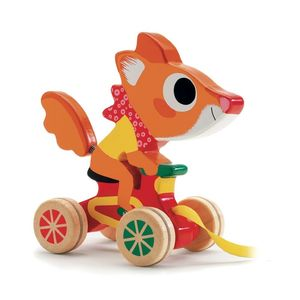 Wooden Pull Along Racing Animals - toys & games