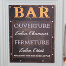 Vintage French Metal Bar Sign