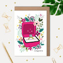 Wedding Engagement Card With Illustrated Ring Box