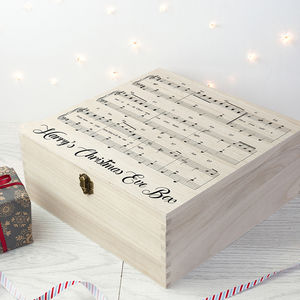 Personalised Musical Design Christmas Eve Box - christmas eve boxes