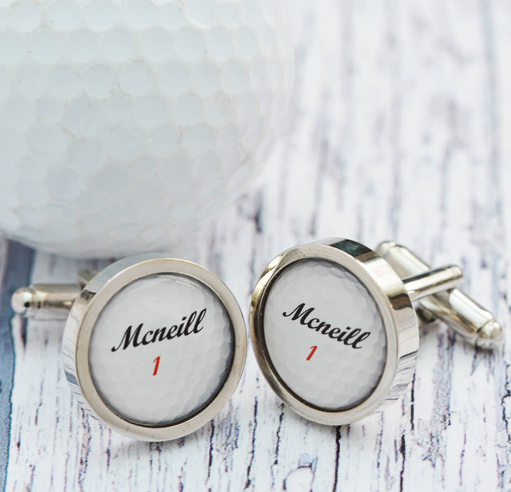 Personalised Golf Ball Cufflinks By Me And My Sport