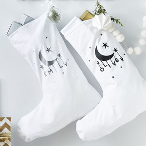 Little Moon Personalised Christmas Stocking - christmas decorations