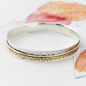 Karma Fortune Spinning Bangle - bracelets & bangles