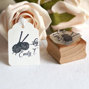 Personalised Knitting Rubber Stamp - personalised