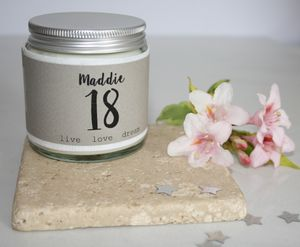 Personalised 18th Birthday Charm Candle - home accessories